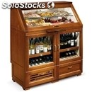 Refrigerated display counter for food and white/red wine - mod. queen - solid