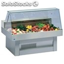 Refrigerated fish display - series: oceanus - stainless steel frame -