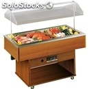 Refrigerated fish island buffet display - mod. apollom - motorized hood lift -