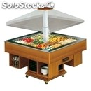 Refrigerated gastronomy island buffet display - mod. gazebo - motorized hood