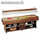 Refrigerated island buffet display - mod. island8 - wooden frame - temperature