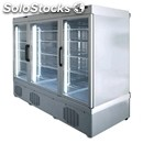 Refrigerated patisserie display - mod. tek/76 - anodized alumiium exterior -