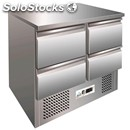 Refrigerated saladette/counter nt - stainless steel aisi 304 - for sandwiches -