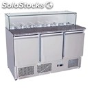 Refrigerated saladette / pizza counter - mod. esl3864 - static cooling -