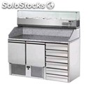 Refrigerated saladette / pizza counter - mod. tm02d6ws4 - static cooling -