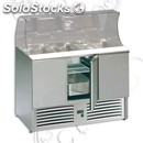 Refrigerated saladette - stainless steel aisi 304 - for salads and cold dishes
