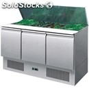 Refrigerated saladette tn prep table - stainless steel aisi 304 - mod. esl3850 -