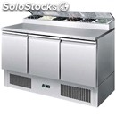 Refrigerated saladette tn prep table - stainless steel aisi 304 - mod. esl3853 -