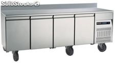 Refrigerated table 4 door with backslash