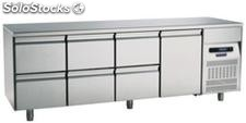 Refrigerated table 700 One Door Six Drawers