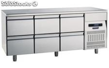 Refrigerated table 700 Six Drawers