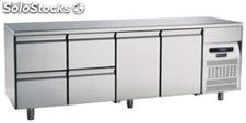 Refrigerated table 700 Two Doors Four Drawers
