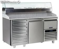Refrigerated table FOR pizza preparation 1 DOOR,1 drawer
