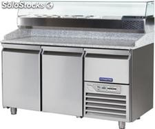 Refrigerated table FOR pizza preparation 2 DOORS,1 drawer