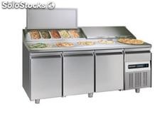 Refrigerated table FOR pizza preparation 3 DOORS,1 drawer