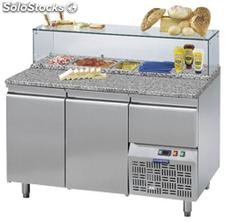Refrigerated table FOR pizza preparation 3 doors