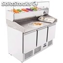 Refrigerated table / tn pizza counter - stainless steel - gastronorm 1/1(cm 53 x
