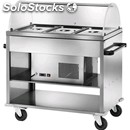 Refrigerated trolley - mod. car2780 - stainless steel structure - temperature