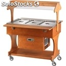 Refrigerated trolley - mod. clr2786 - solid wood structure - static cooling -