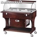 Refrigerated trolley - mod. clr2787 - solid wood structure - static cooling -