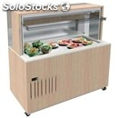 Refrigerated wall buffet counter with quartz agglomerate flat top - mod. venezia