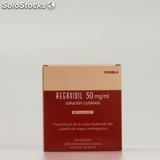 Regaxidil 50 mg/ml sol cutanea 4X60 ml