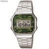 Reloj casio Collection a168wec-3ef Camuflaje Vintage Plateado