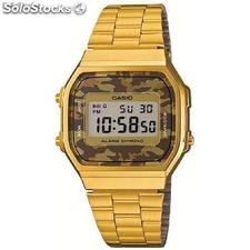 Reloj casio Collection a168wegc-5ef Camuflaje Dorado