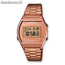 Reloj Casio Digital Retro con Alarma y Cronometro B640wc-5a Cobre