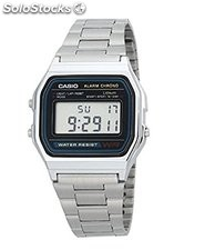 Reloj casio retro A168 wa color plata