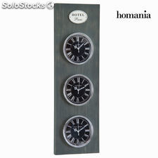 Reloj de pared 3 esferas gris by Homania