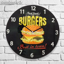 Reloj de Pared Burgers Oh My Home