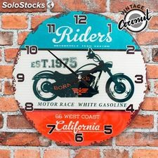 Reloj de Pared California Riders Vintage Coconut