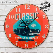 Reloj de Pared Classic Garage Vintage Coconut