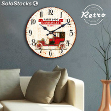 Reloj de Pared Coche Retro