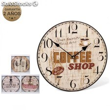 Reloj de pared coffee 34 cm surtido