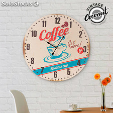 Reloj de Pared Coffee Vintage Coconut