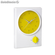 Reloj de pared con temporizador incorporado. Disponible en 3 colores.