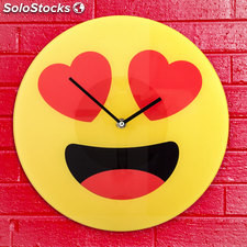 Reloj de Pared Emoticono Corazones