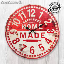 Reloj de Pared Home Made Vintage Coconut