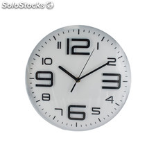 Reloj de pared metálico blanco baltimore