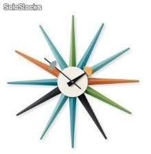 Reloj de pared nl-st-mc, madera lacada multicolor