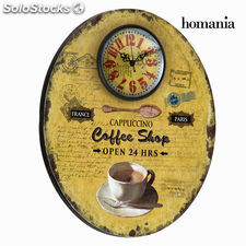 Reloj de pared ovalado coffee by Homania