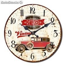 Reloj de pared retro coche