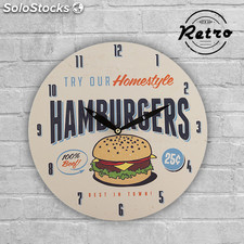 Reloj de Pared Retro Fast Food