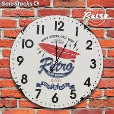Reloj de Pared Retro Surf Board