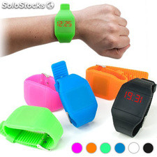 Reloj de Pulsera Digital Táctil Color Naranja