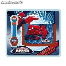 Reloj Digital + Cartera Spiderman