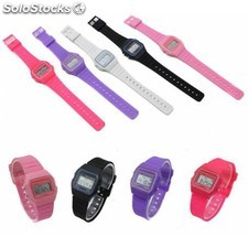Reloj digital de pvc estilo retro vintage colores