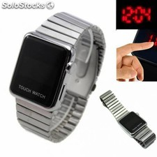 Reloj digital metal para hombre led con pantalla tactil tipo smart watch